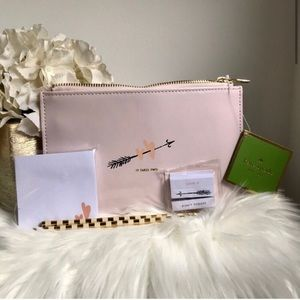 NWT Kate Spade two hearts bridal pencil pouch